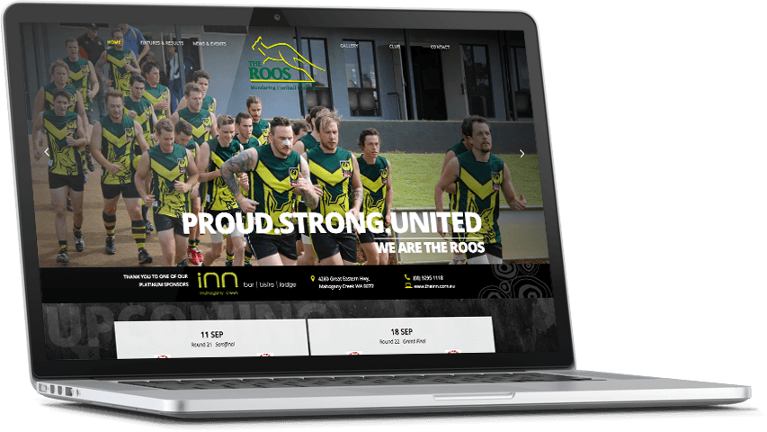 Responsive Website for Mundaring Football Club